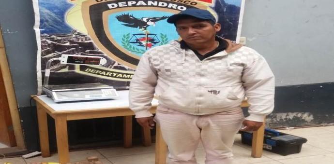 Capturan a sujeto que transportaba más de 8 kilos de droga a Sicuani