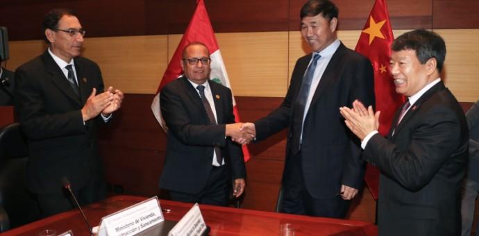 Perú y China suscriben convenios para promoción de proyectos mineros y energéticos