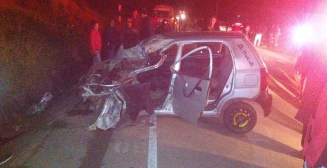 Anta: Violenta colisión de 2 vehículos  deja el saldo de 5 personas gravemente heridas