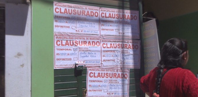 Municipalidad de Wanchaq clausura 8 establecimientos comerciales por funcionar ilegalmente