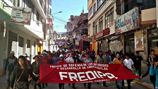 Andahuaylas afronta dos semanas de huelga indefinida contra la corrupción y falta de obras