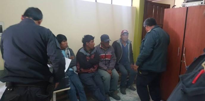 Huaqueros fueron intervenidos cuando realizaban excavaciones en zona arqueológica