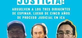 """Wilbert Rozas: """"Es justa la absolución de Oscar Mollohuanca y dirigentes de Espinar"""""""