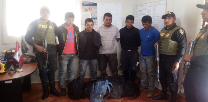 Capturan a 5 peligrosos asaltantes de carreteras que operaban en Cusco y Apurímac