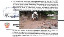 Megantoni: TGP no cuenta con un plan de contingencia inmediato para atender derrames de gas