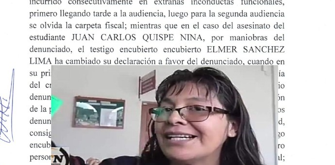 Frente de Defensa de Canchis exige investigar a ex alcalde Cornejo y fiscal Frenia Roque