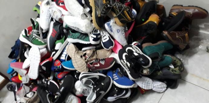Incautan zapatillas de contrabando y de segundo uso valorizadas en 45 mil Soles
