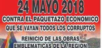Cusco acatará un paro de 24 horas este 24 de mayo contra el gasolinazo de Martín Vizcarra