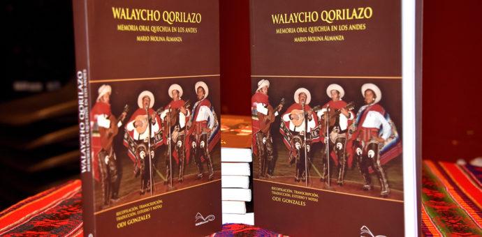 """Mario Molina vuelve con el libro """"Walaycho Qorilazo Memoria Oral Quechua en los Andes"""""""
