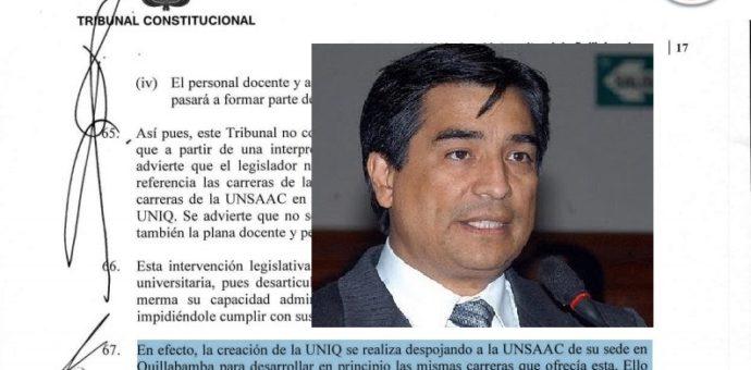 Por estas razones se declaró inconstitucional la ley que crea la UNIQ del aprista Luis Wilson