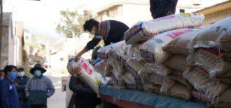 Hudbay realizó la reposición de sacos de arroz en Santo Tomás, Velille y Chamaca