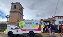 Empresa minera dona ambulancia al pueblo de Livitaca en Chumbivilcas