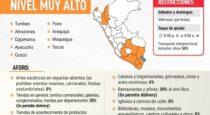 Ejecutivo dicta cuarentena obligatoria en 10 regiones y Cusco está en nivel muy alto de contagio