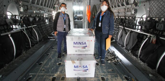 Llegaron mas de 5 mil dosis de vacunas para el personal de salud en Cusco