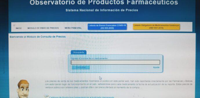 Farmacias y boticas deben reportar precios en nueva plataforma digital como establece la norma