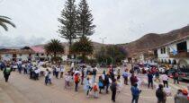 Pueblo de Machu Picchu se movilizó en Urubamba exigiendo respeto de la vía Hiran Bingham