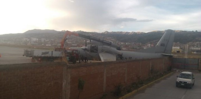 FAP investiga percance que sufrió avión antonov que trasladaba ayuda para Paruro