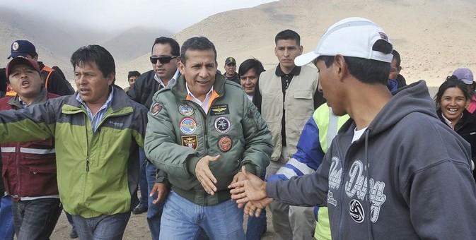 Presidente Humala llegó a Paruro y anuncia declaratoria en emergencia