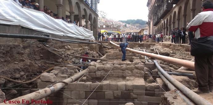 Cultura inició trabajos de conservación de hallazgos de calle Mantas