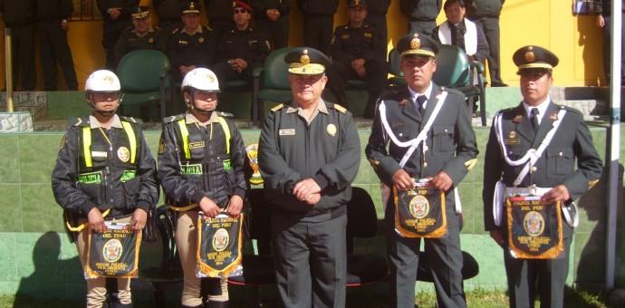 Reconocen a 4 agentes del orden por destacada labor policial