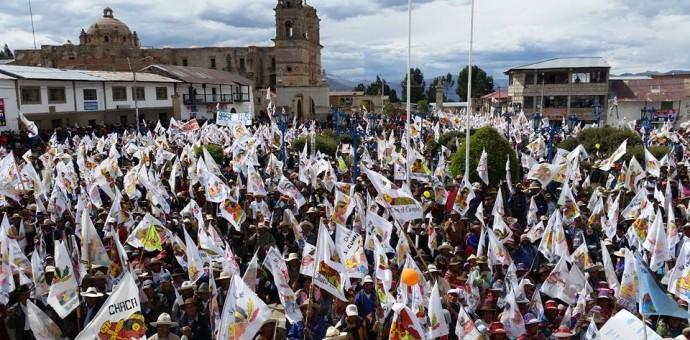 Multitudinario cierre de campaña electoral de Pachakúteq en Chumbivilcas