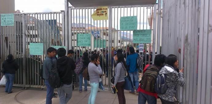 Universitarios de Agronomía y Zootecnia tomaron ciudad universitaria de Perayoc