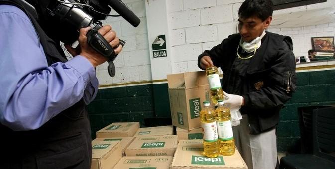 En «El Muñeco» preparaban chicharrón con aceite pasado del 2013