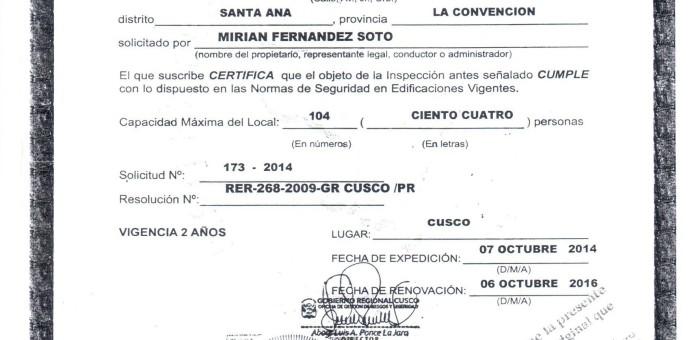Acusan a Región Cusco de otorgar certificado de seguridad a lenocinio en Quillabamba