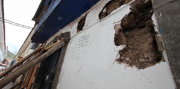Ministerio de Cultura intervino para apuntalar casona afectada por la humedad