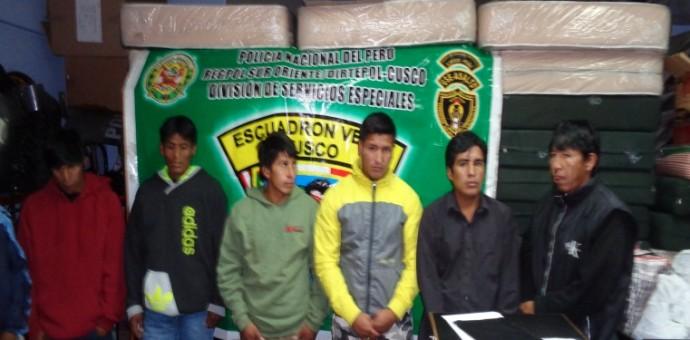 PNP captura a 10 micro comercializadores de droga en inmediaciones de El Molino
