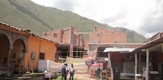 Cultura paraliza construcción clandestina en el centro histórico de Andahuaylillas