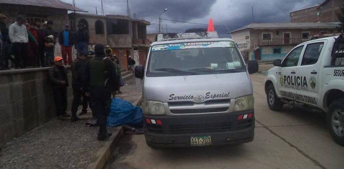 Doble crimen se consuma en plena plaza de armas del distrito de Quiñota