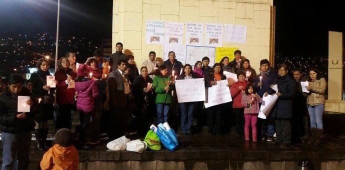 Familiares de desaparecido ingeniero Óscar Guzmán realizaron vigilia en Cusco