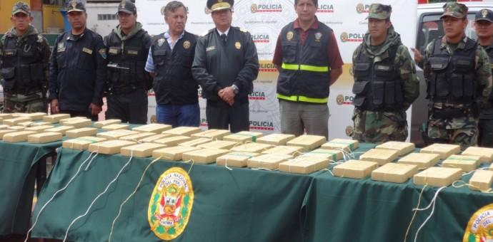 Policía incauta más de 114 kilos de droga en el distrito de Limatambo