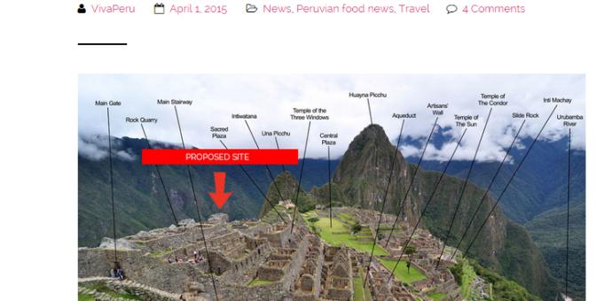 """McDonald´s desmiente información de """"Viva Perú"""" sobre local en Machu Picchu"""