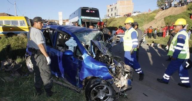 Cuatro personas fallecieron en lamentable accidente de tránsito en Poroy