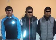 Capturan a tres sujetos que se dedicaban a hurtar celulares y billeteras