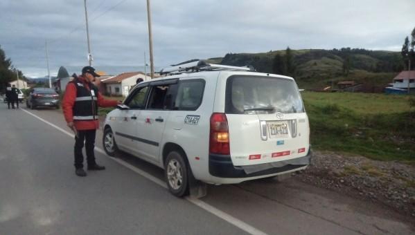 Inician operativos de fiscalización a unidades que se dirigen a Paucartambo