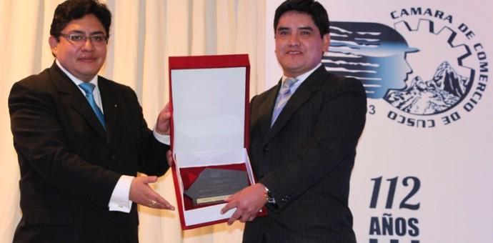 Caja Cusco fue reconocida como mejor empresa del año por la Cámara de Comercio