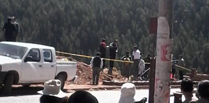 Policía realiza la reconstrucción de la muerte de José Carlos Tupayachi
