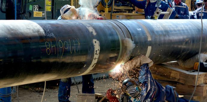 Comenzó la soldadura de tuberías en el gasoducto sur peruano