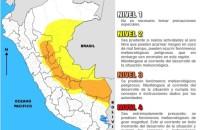 Senamhi advierte fuertes lluvias en las regiones de la selva peruana