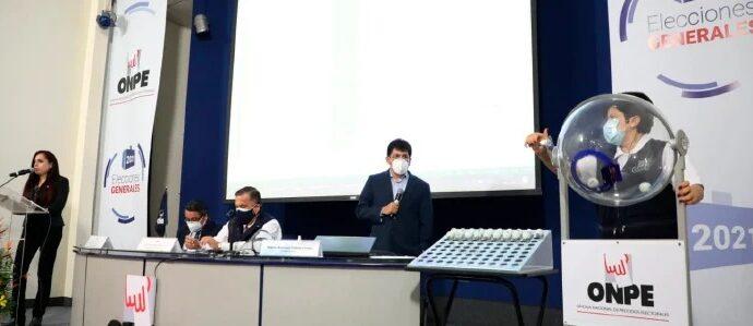 ONPE determinó por sorteo ubicación de las organizaciones políticas en las cédulas de sufragio