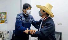 Evo Morales entre los principales invitados de Pedro Castillo