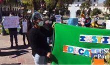 Padres de familia de la Institución Educativa Inicial 444 exigen conclusión de la obra de su jardín