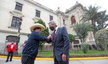Pedro Castillo visitó Palacio de Gobierno y se reunió con Francisco Sagasti
