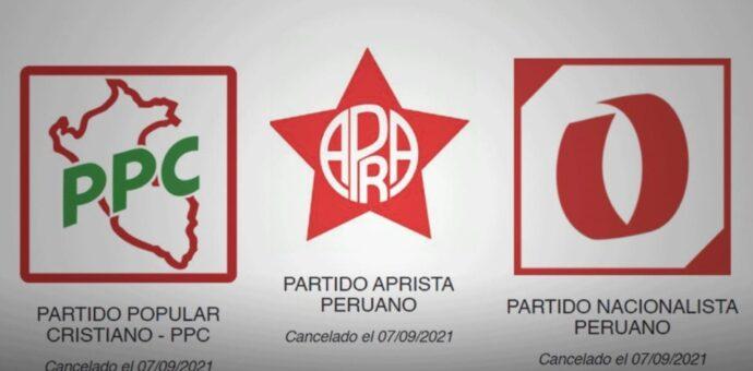 JNE canceló inscripción de 15 partidos políticos, entre ellos el Partido Aprista Peruano